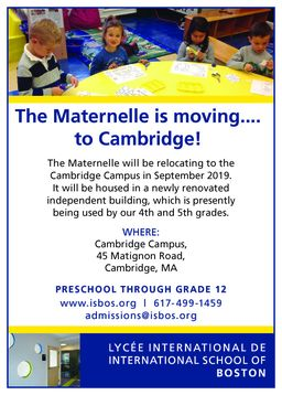 The Maternelle is moving....to Cambridge!