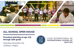 All School Open House - Saturday, November 3rd - 10:00am-1:00pm